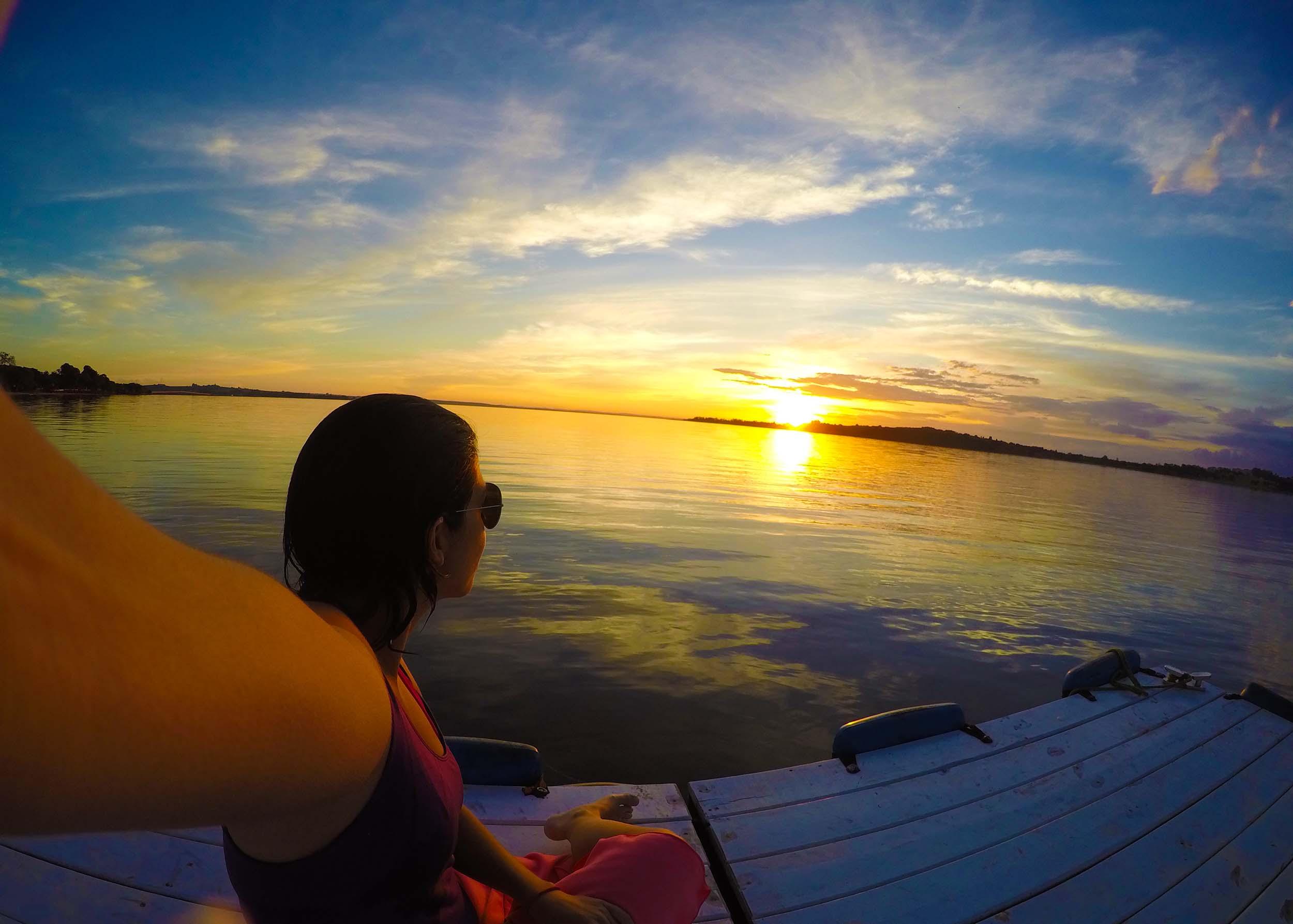Pôr do Sol na represa de Jurumirim em Avaré