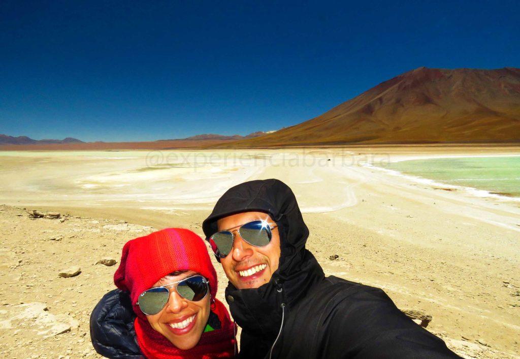 Lagunas Branca e Verde na Bolívia