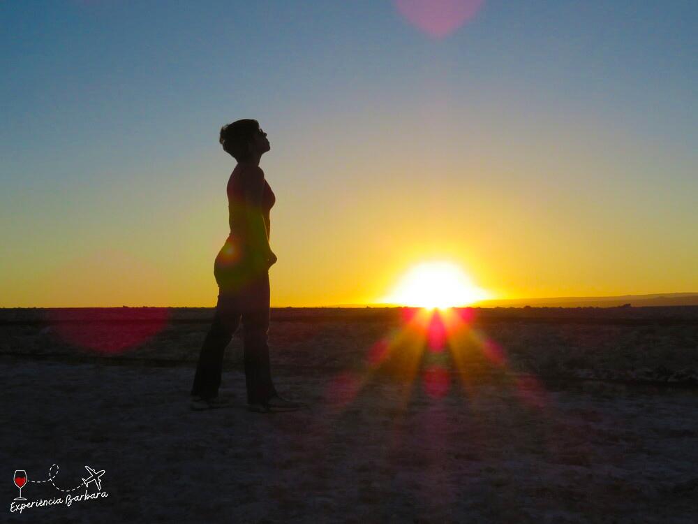 Pôr do sol na Laguna Tebinquinche