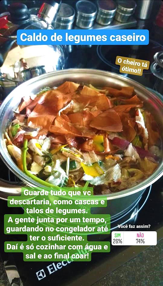 Preparo do caldo de legumes caseiro